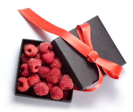 present in the form of  raspberry box