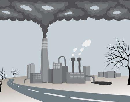 contaminacion ambiental: contaminante fábrica de la ecología