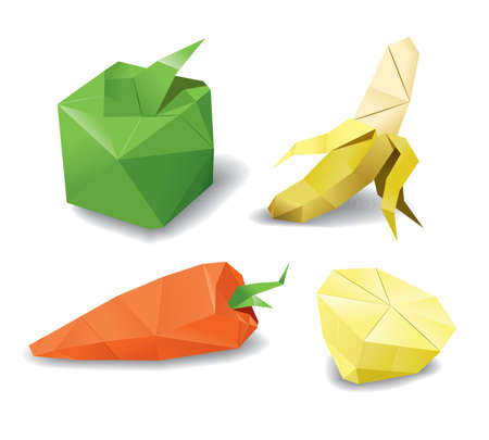 origami fruits set