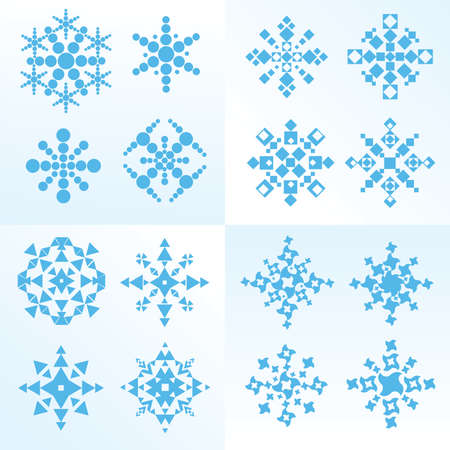 A set of  vectorial  snowflake 矢量图像