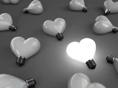 heart lamp 版權商用圖片 - 11963341