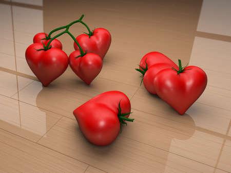 heart tomatoes photo