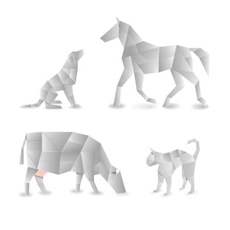 origami animals  免版税图像