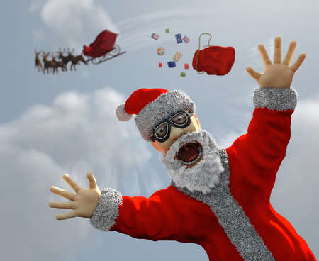 flying Santa Claus photo