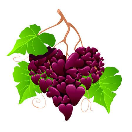 De raisin comme un coeur Banque d'images - 17308128