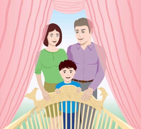 happy family 版權商用圖片 - 17308130