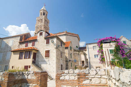 Cathedral of Saint Domnius  Saint Duje Cathedral  and the Dioclesian s Palace in the historical center Split, Croatia  photo