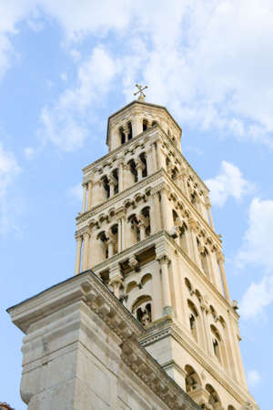 Cathedral of Saint Domnius  Saint Duje Cathedral  and the Dioclesian s Palace in the historical center Croatia  photo