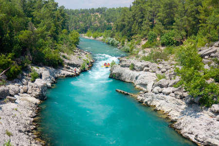 rafting in the green canyon, Alanya, Turkey photo
