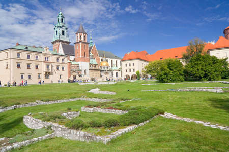 Wawel Cathedral, The Cathedral Basilica of Sts  Stanislaw and Vaclav on the Wawel Hill in Cracow  photo