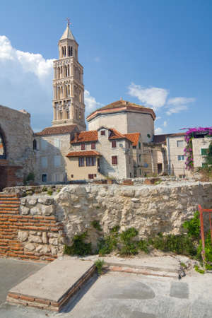 Cathedral of Saint Domnius  Saint Duje Cathedral  and the Dioclesian s Palace in the historical center -Split, Croatia photo