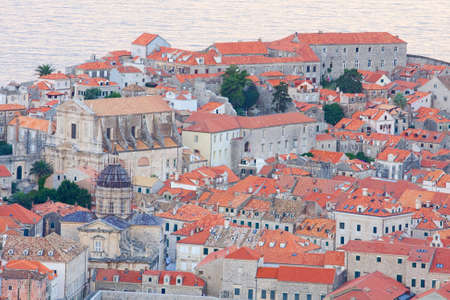 The Old Town of Dubrovnik in the evening, Croatia  Stock Photo