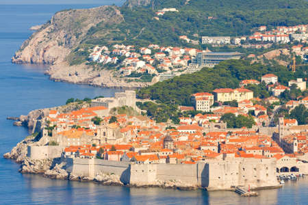 The Old Town of Dubrovnik, sunrise, early morning,  Croatia  photo