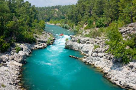 rafting in the green canyon, Alanya, Turkey Stock Photo