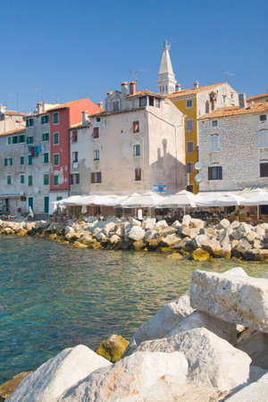 Old town architecture of Rovinj, Croatia  Istria touristic attraction