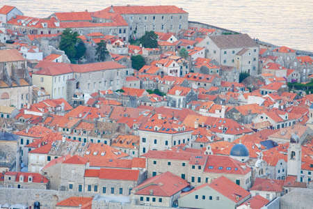 The Old Town of Dubrovnik in the evening, Croatia  photo