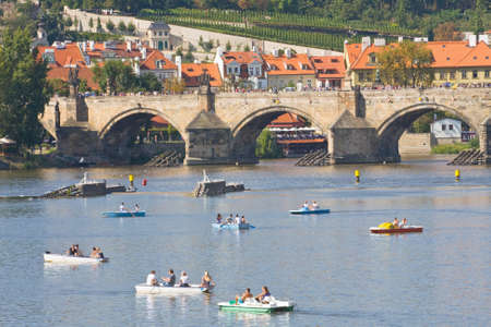 View of the Vltava River, Prague, Czech Republic