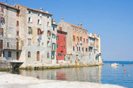 Old town architecture of Rovinj, Croatia  Istria touristic attraction  photo