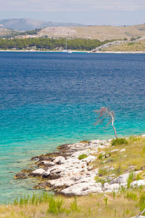 Panoramic views of the croatian coast, Dalmatia photo