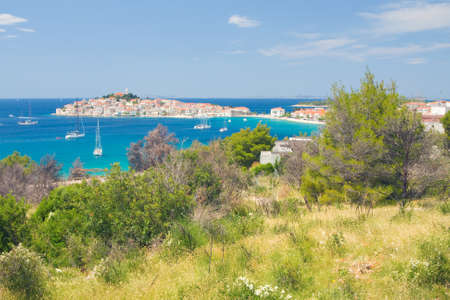 Panoramic views of the croatian coast, Primosten near Sibenik, Croatia photo