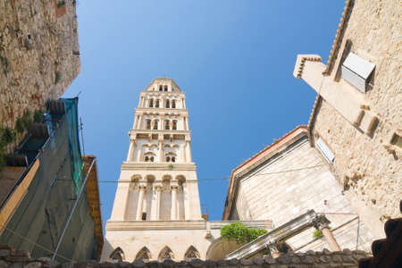 Cathedral of Saint Domnius  Saint Duje Cathedral  and the Dioclesian s Palace in the historical center  photo
