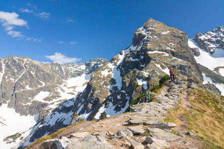 landscape of Gasienicowa valley, Karb and Koscielec - High Tatra Mountains Stock Photo - 15056586