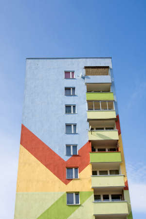 Apartment building.Multistori ed modern and stylish living block of flats. Real estate. New house.Real Estate.  photo