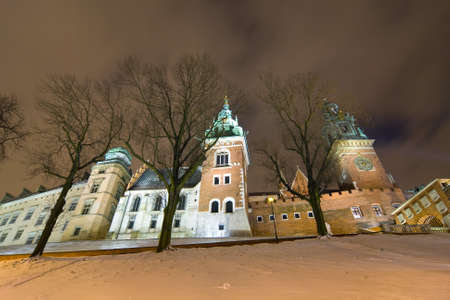 Wawel Hill by night - Krakow  photo