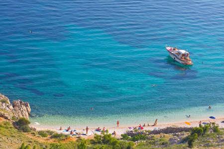 Stara Baska beach, Croatia Stock Photo