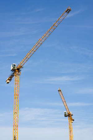 yellow hoisting cranes Stock Photo - 16260684
