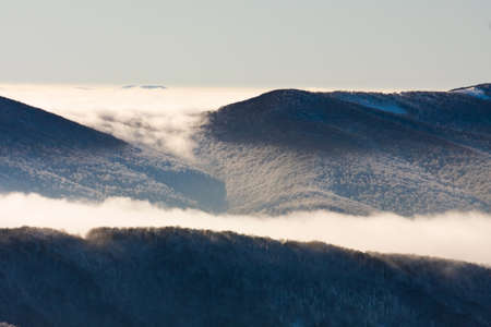 inversion: inversion in the mountains Stock Photo