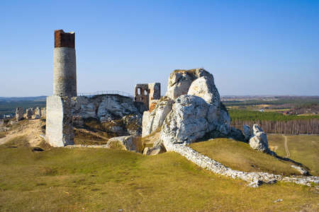 Olsztyn Castle - Poland. Medieval fortress in the Jura region Stock Photo - 16624703