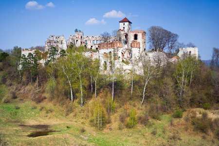 Castle Rudno - Poland. Medieval fortress in the Jura region  photo