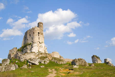 Ruins of medieval castle Mirow in Poland Stock Photo - 16624319