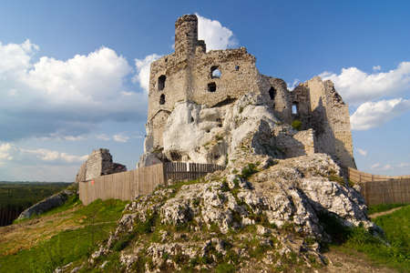 mirow: Ruins of medieval castle Mirow in Poland Stock Photo