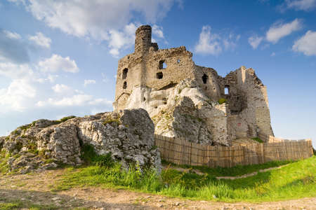 Ruins of medieval castle Mirow in Poland Stock Photo - 16624879