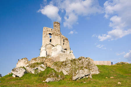 Ruins of medieval castle Mirow in Poland photo