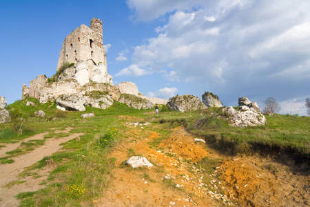 Ruins of medieval castle Mirow in Poland Stock Photo - 16628219