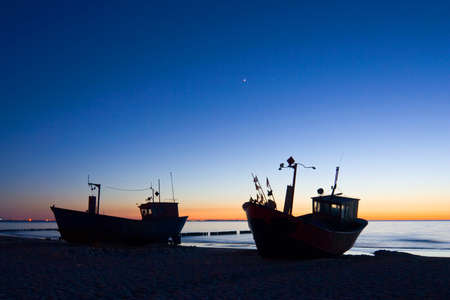 Fisherman Boat with sunset sky environment Stock Photo - 16624205