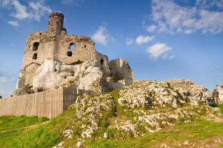 Ruins of medieval castle Mirow in Poland Stock Photo - 16624907