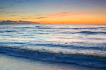 Coucher de soleil sur la plage Banque d'images
