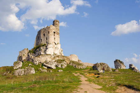 mirow: Ruins of medieval castle Mirow in Poland Editorial