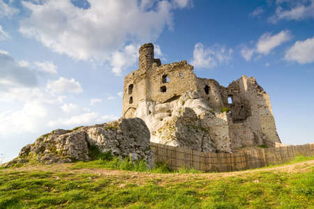 Ruins of medieval castle Mirow in Poland Stock Photo - 16838038