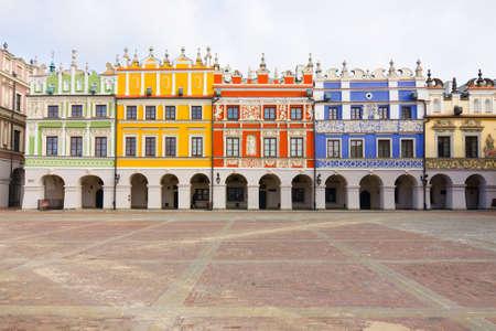 gildhall: Town Hall, Main Square  Rynek Wielki , Zamosc, Poland  Editorial