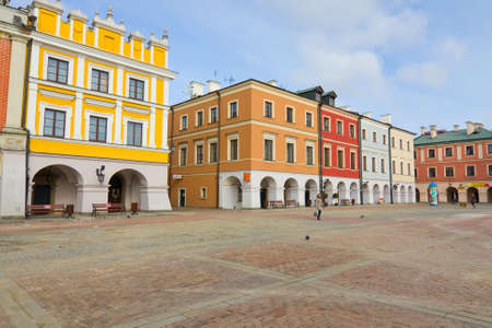 Town Hall, Main Square  Rynek Wielki , Zamosc, Poland  Stock Photo - 16870352
