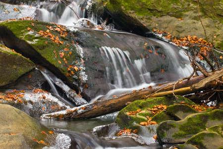 Blur Waterfall and ice Stock Photo