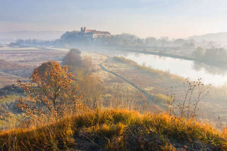 Benedictine monastery and Saint Peter and Paul church on the rocky hill by the Vistula river in Tyniec near Cracow, Poland  Stock Photo - 17093649