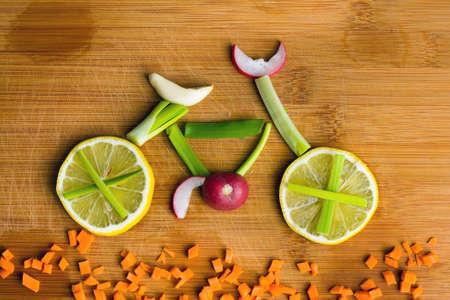 lifestyle: Healthy lifestyle concept - vélo de légumes Banque d'images