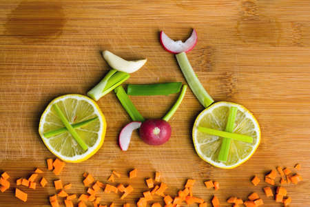 Healthy lifestyle concept - vegetable bike Stock Photo - 17536882