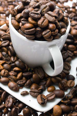 tasse de café sur fond blanc Banque d'images